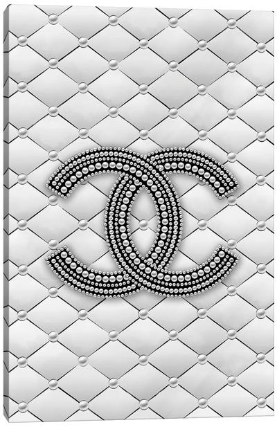 Chanel Pearl Logo Canvas Art Print