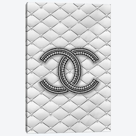 Chanel Pearl Logo Canvas Print #PAV483} by Martina Pavlova Art Print