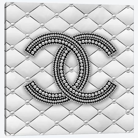 Chanel Pearl Logo I Canvas Print #PAV484} by Martina Pavlova Canvas Artwork