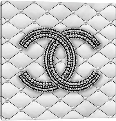 Chanel Pearl Logo I Canvas Art Print