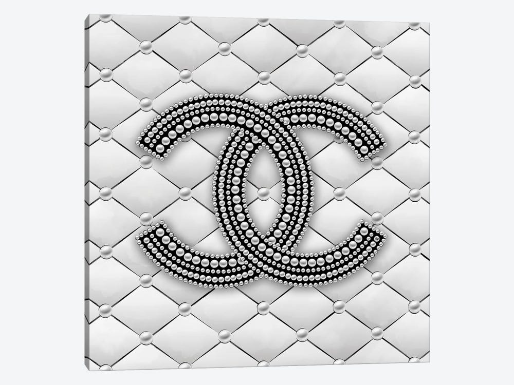 Chanel Pearl Logo I by Martina Pavlova 1-piece Canvas Art Print