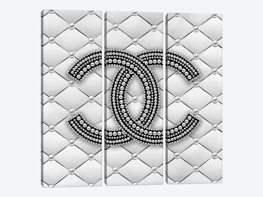 Chanel Pearl Logo I by Martina Pavlova 3-piece Art Print