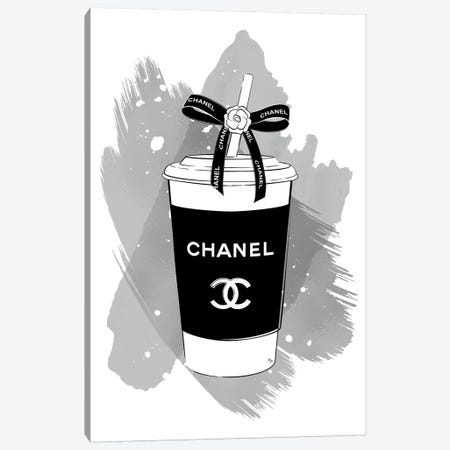 Chanel Soft Drink 3-Piece Canvas #PAV488} by Martina Pavlova Canvas Print