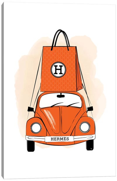 Hermes Car Canvas Art Print