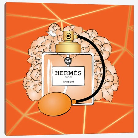 Hermes Perfume Canvas Print #PAV499} by Martina Pavlova Canvas Art