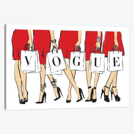 Vogue I Canvas Print #PAV49} by Martina Pavlova Canvas Art