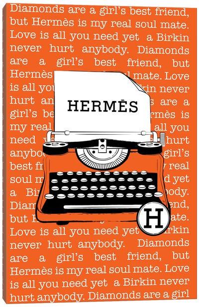 Hermes Typewriter Canvas Art Print