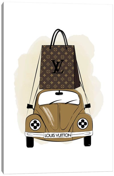 LV Car Canvas Art Print