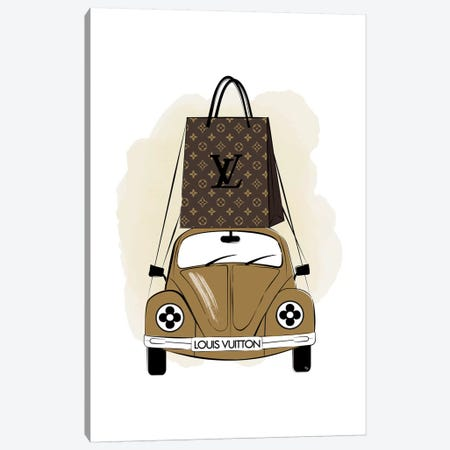 LV Car Canvas Print #PAV504} by Martina Pavlova Canvas Print