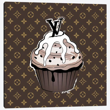 LV Cupcake Canvas Print #PAV506} by Martina Pavlova Art Print