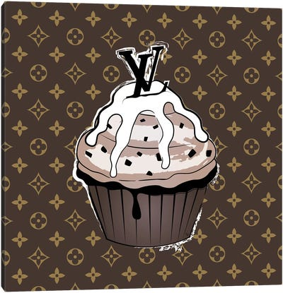 LV Cupcake Canvas Art Print