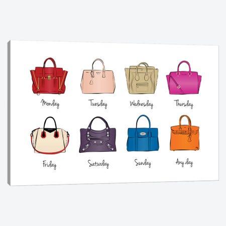 Week Bags Canvas Print #PAV50} by Martina Pavlova Art Print