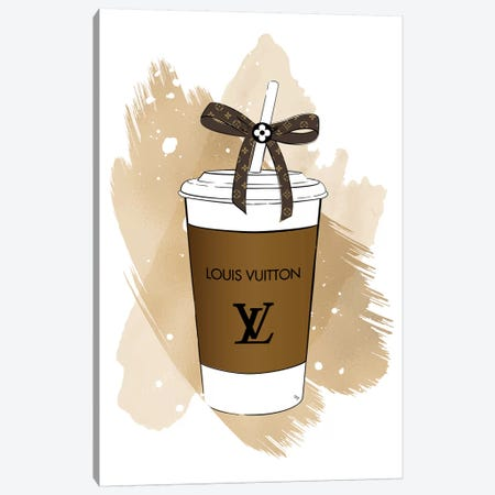 LV Soft Drink Canvas Print #PAV514} by Martina Pavlova Canvas Wall Art