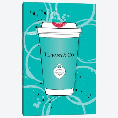 Tiffany Coffee Canvas Print #PAV517} by Martina Pavlova Canvas Art