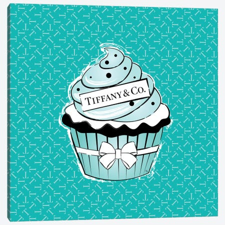Tiffany Cupcake Canvas Print #PAV518} by Martina Pavlova Canvas Print