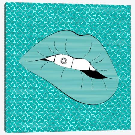 Tiffany Lips Canvas Print #PAV522} by Martina Pavlova Canvas Wall Art