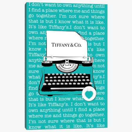 Tiffany Typewriter Canvas Print #PAV526} by Martina Pavlova Art Print