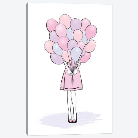 Balloons Canvas Print #PAV52} by Martina Pavlova Art Print