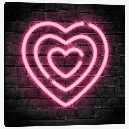 Neon Hearts Canvas Print #PAV531} by Martina Pavlova Canvas Art Print