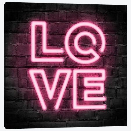 Neon Love Canvas Print #PAV535} by Martina Pavlova Canvas Wall Art