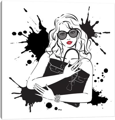 Black Bag Canvas Art Print