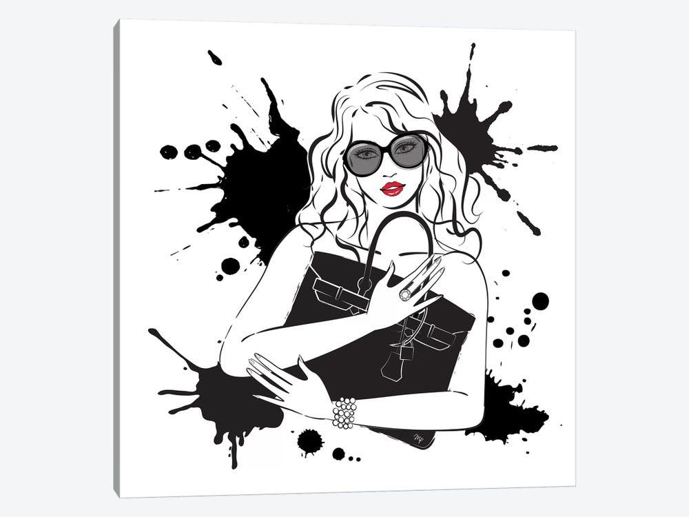 Black Bag by Martina Pavlova 1-piece Canvas Art Print