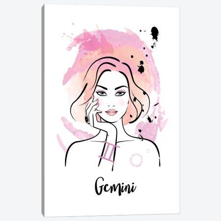 Gemini Horoscope Sign 3-Piece Canvas #PAV540} by Martina Pavlova Canvas Art