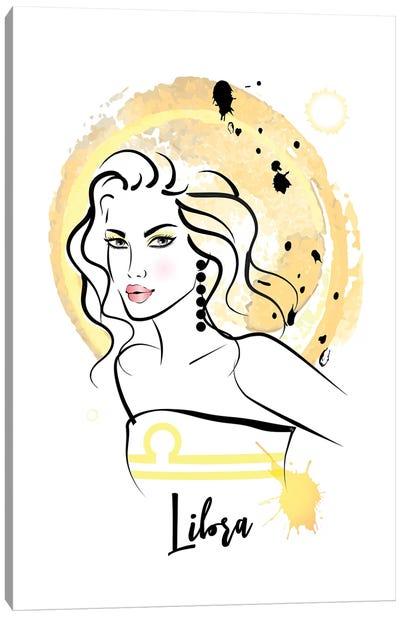 Libra Horoscope Sign Canvas Art Print