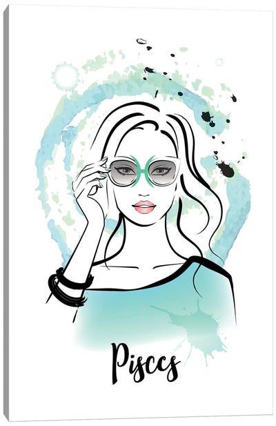 Pisces Horoscope Sign Canvas Art Print