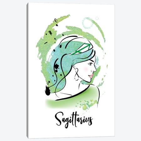 Sagittarius Horoscope Sign Canvas Print #PAV544} by Martina Pavlova Art Print