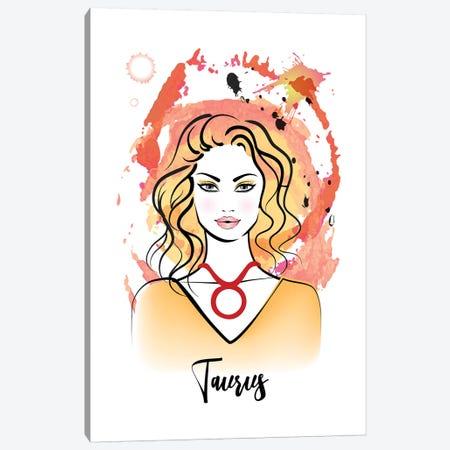 Taurus Horoscope Sign 3-Piece Canvas #PAV546} by Martina Pavlova Canvas Art Print