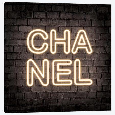 Neon Chanel Yellow Canvas Print #PAV548} by Martina Pavlova Canvas Art