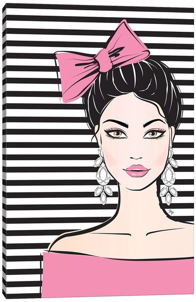Bow Girl I Canvas Art Print