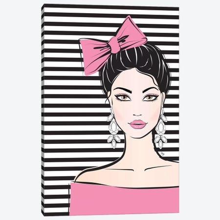 Bow Girl I Canvas Print #PAV54} by Martina Pavlova Canvas Art