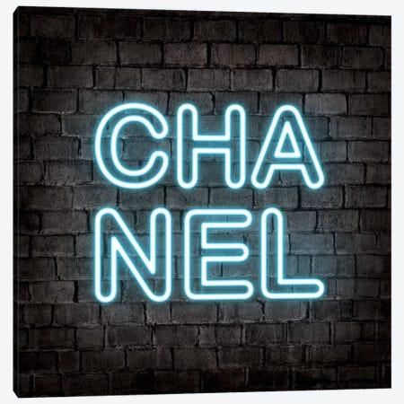 Neon Chanel Blue Canvas Print #PAV550} by Martina Pavlova Canvas Art Print