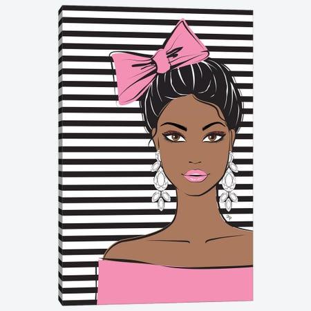 Bow Girl II Canvas Print #PAV55} by Martina Pavlova Canvas Art