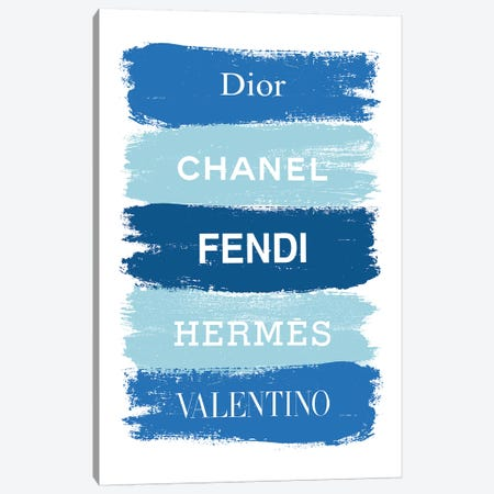 Blue Fashion Brands Canvas Print #PAV562} by Martina Pavlova Canvas Artwork