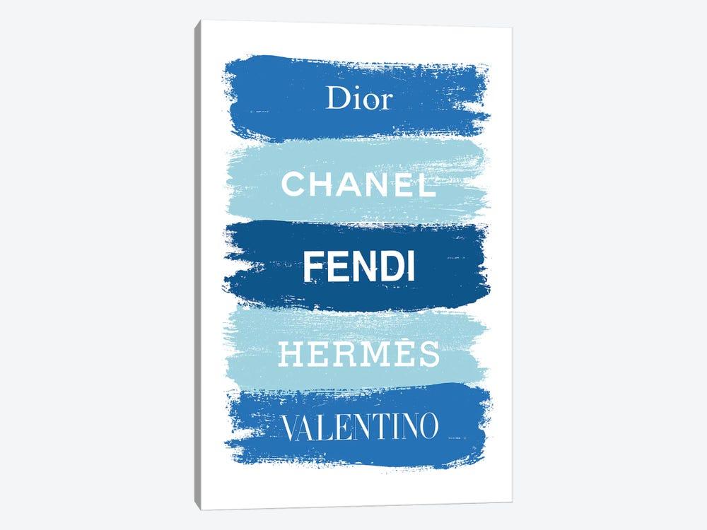 Blue Fashion Brands by Martina Pavlova 1-piece Canvas Artwork