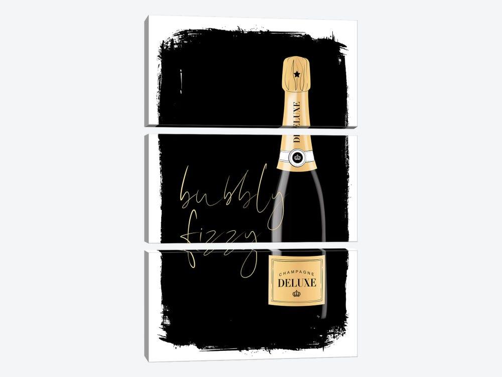 Bubbly Champagne by Martina Pavlova 3-piece Art Print