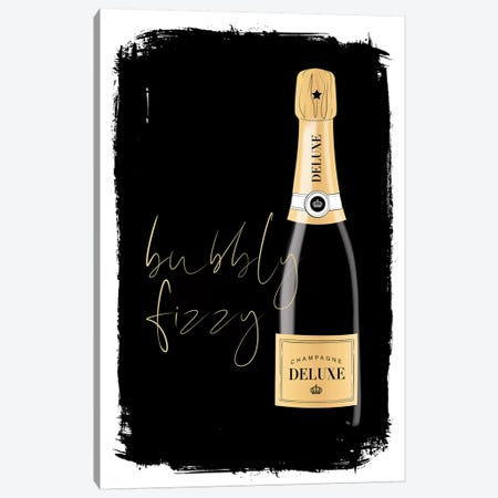 Bubbly Champagne Canvas Print #PAV565} by Martina Pavlova Art Print