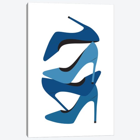 Blue Heels Canvas Print #PAV568} by Martina Pavlova Canvas Art