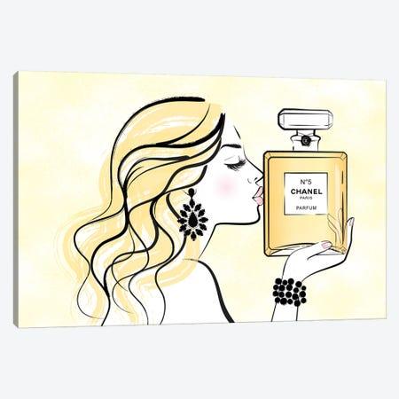 Kiss My Chanel Canvas Print #PAV572} by Martina Pavlova Canvas Print