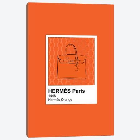 Hermés Orange Pantone Canvas Print #PAV579} by Martina Pavlova Art Print