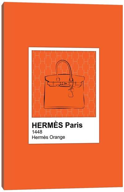 Hermés Orange Pantone Canvas Art Print