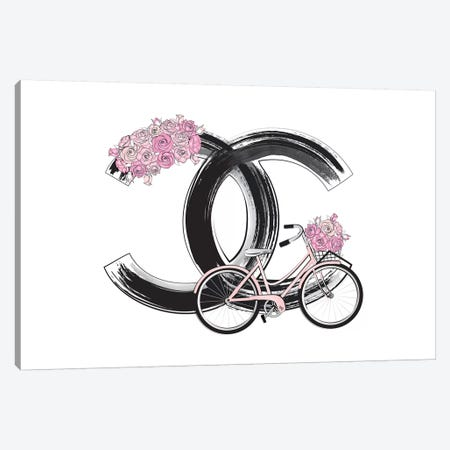 Chanel Bike Canvas Print #PAV57} by Martina Pavlova Canvas Art