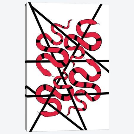 Red Snakes 3-Piece Canvas #PAV581} by Martina Pavlova Canvas Wall Art