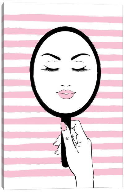 My Mirror Pink Canvas Art Print