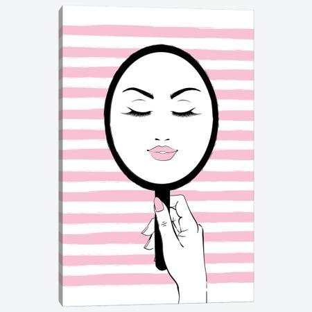My Mirror Pink Canvas Print #PAV584} by Martina Pavlova Canvas Art Print