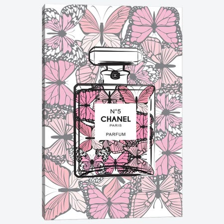 Chanel Butterflies Canvas Print #PAV58} by Martina Pavlova Canvas Print