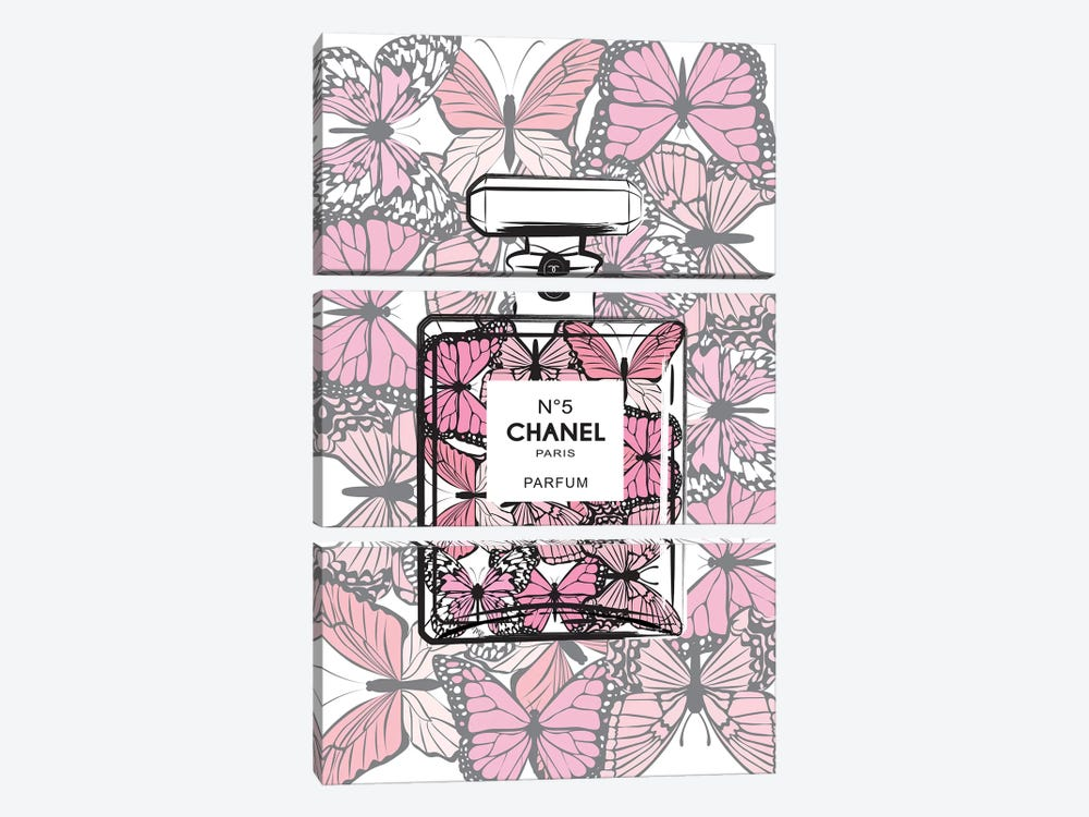 Chanel Butterflies 3-piece Canvas Artwork